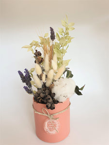 Dried Floral Arrangement - Pink Pot - Where The Green Things Are
