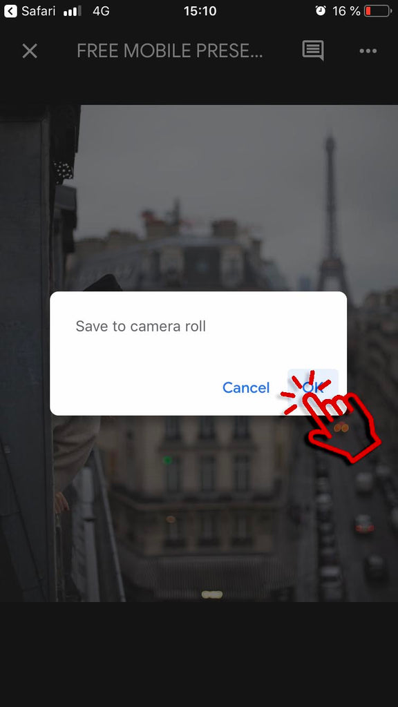 Saving dng file to camera roll