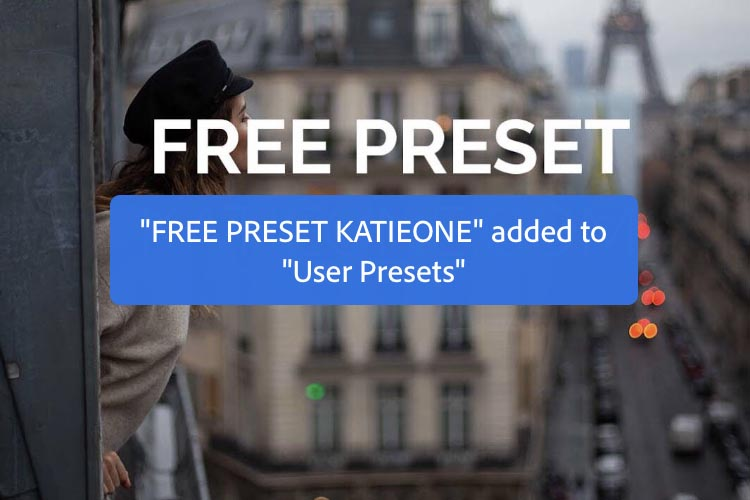 presets added to Lightroom message