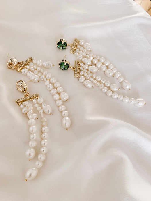 Monique Freshwater Pearl Earrings Green