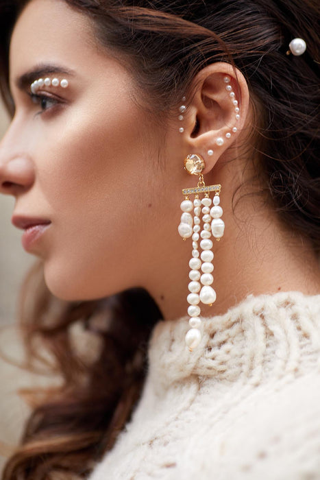 Monique Freshwater Pearl Earrings Cream