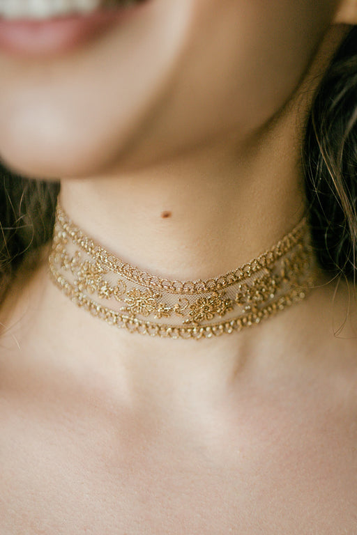Crown Choker Gold