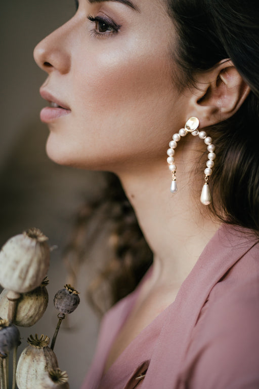 Omega Pearl Earrings