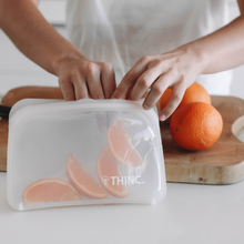 Load image into Gallery viewer, reusable silicone ziplock bags for fruit or vegetables