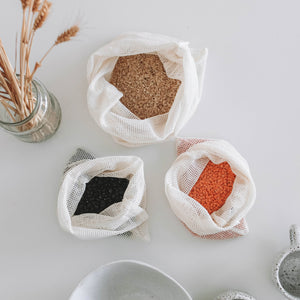 100% organic cotton produce bags