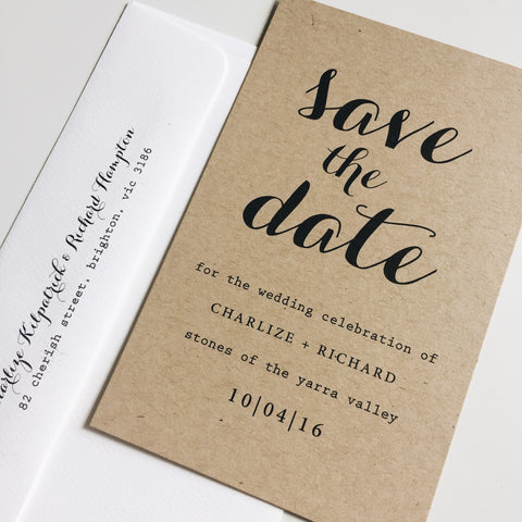 kraft save the date  #1