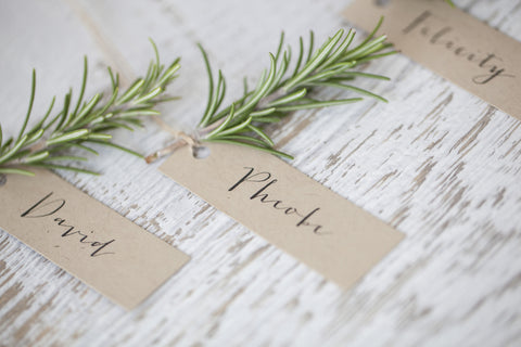 kraft place card . tag