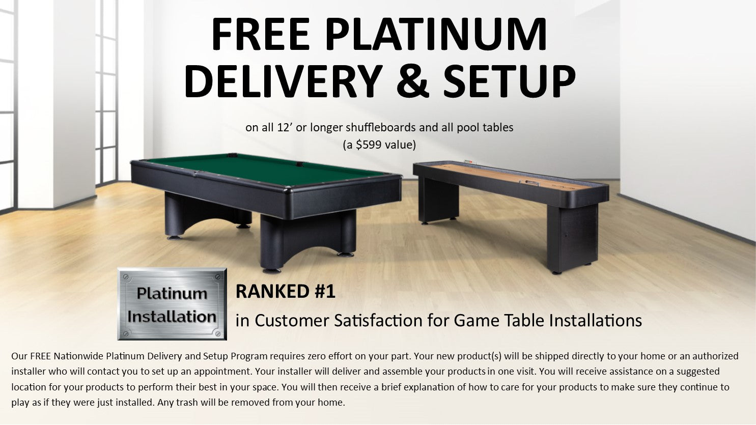 Game Rooms Direct Free Delivery and Setup