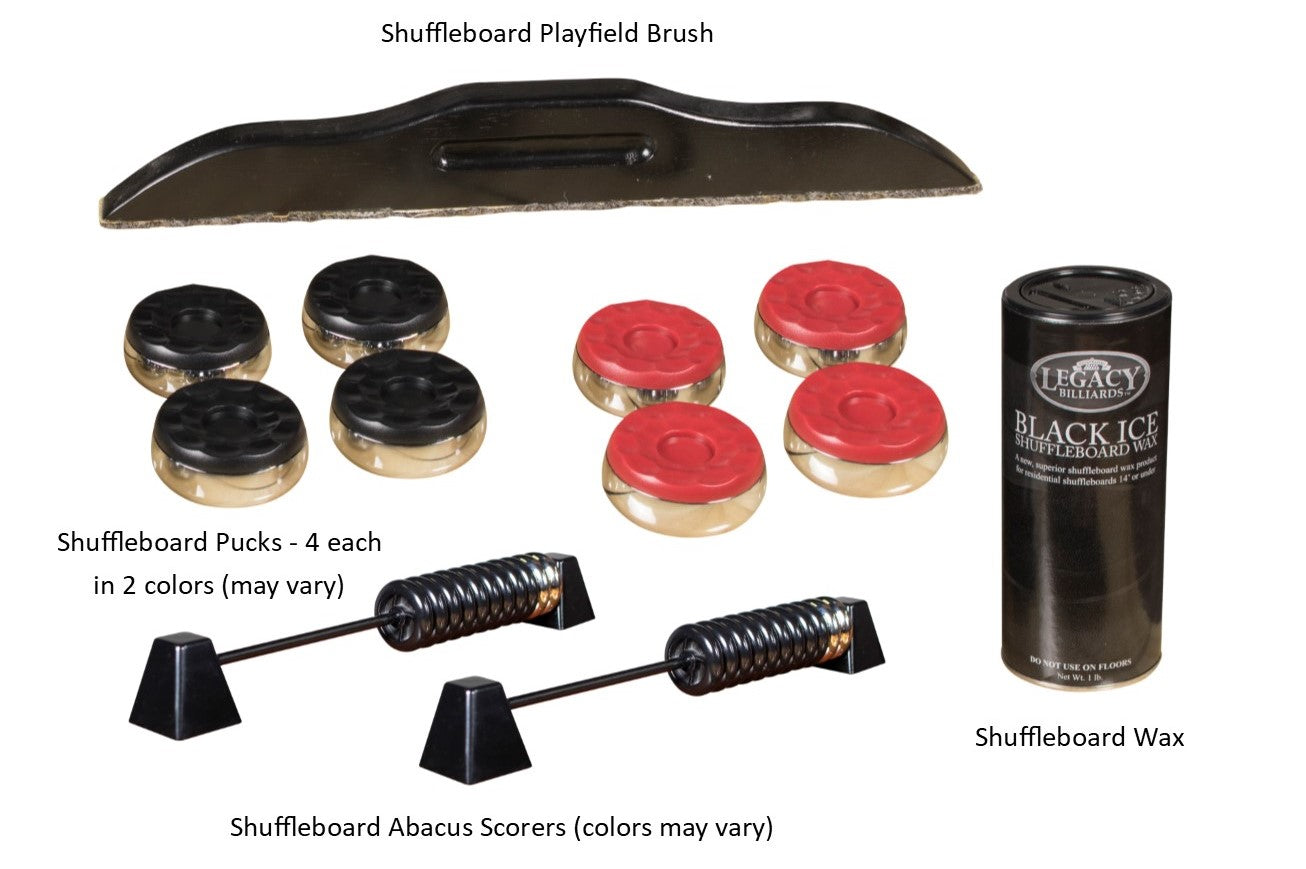Shuffleboard Included Accessories