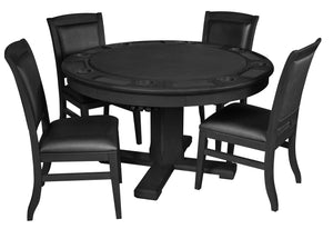 Game Room Furniture: City Series 3 in 1 Game Set with Chairs, Carbon (bumper pool, poker table, & dinner table) - Game Rooms Direct