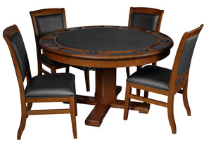 Game Room Furniture: City Series 3 in 1 Game Set with Chairs, Clove (bumper pool, poker table, & dinner table) - Game Rooms Direct