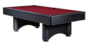 Boston 8 Foot Pool Table with Red Felt - Game Rooms Direct
