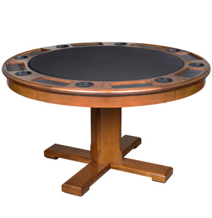 Game Room Furniture: City Series 3 in 1 Game Table, Cinnamon (bumper pool, poker table, & dinner table) - Game Rooms Direct