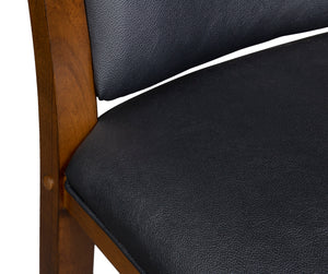 Game Room Furniture: City Series Backed Bar Stool, Clove (Seat Back Detail) - Game Rooms Direct