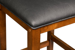 Game Room Furniture: City Series Backed Bar Stool, Clove (Stool Seat Detail) - Game Rooms Direct