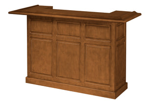 Game Room Furniture: City Series 72 Inch Bar, Cinnamon - Game Rooms Direct