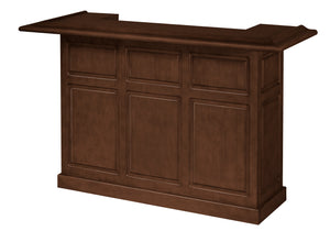 Game Room Furniture: City Series 72 Inch Bar, Clove - Game Rooms Direct