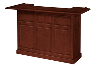 Game Room Furniture: City Series 72 Inch Bar, Dark Cherry - Game Rooms Direct