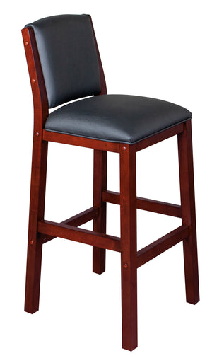 Game Room Furniture: City Series Backed Bar Stool, Dark Cherry - Game Rooms Direct