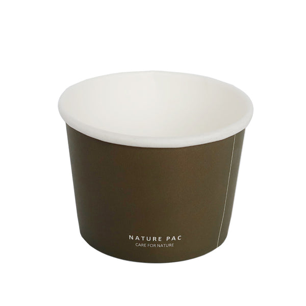 1100ml Paper Bowl - Black, Olive