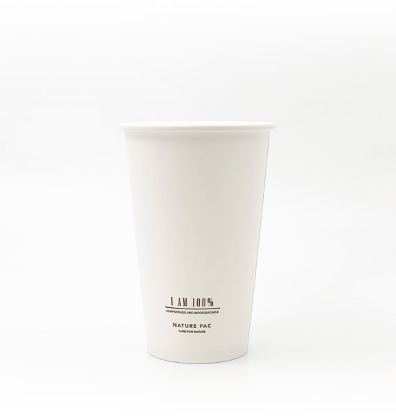 12ozC (360ml) PLA Cups - White
