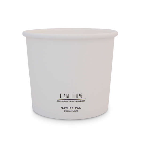 24oz (700ml) Paper Bowl - White - Nature Pac