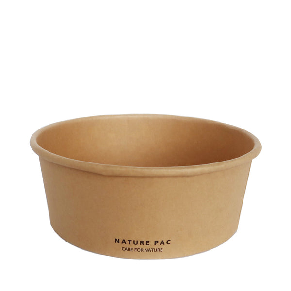 32oz (1000ml) Paper Bowl - Black, Olive, Kraft - Nature Pac