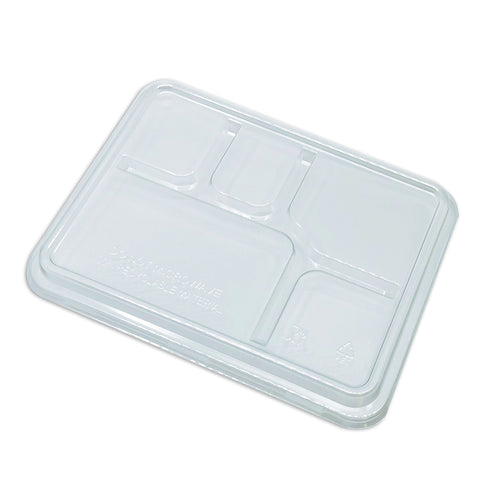 5 Comp PET Tray Lid - Clear