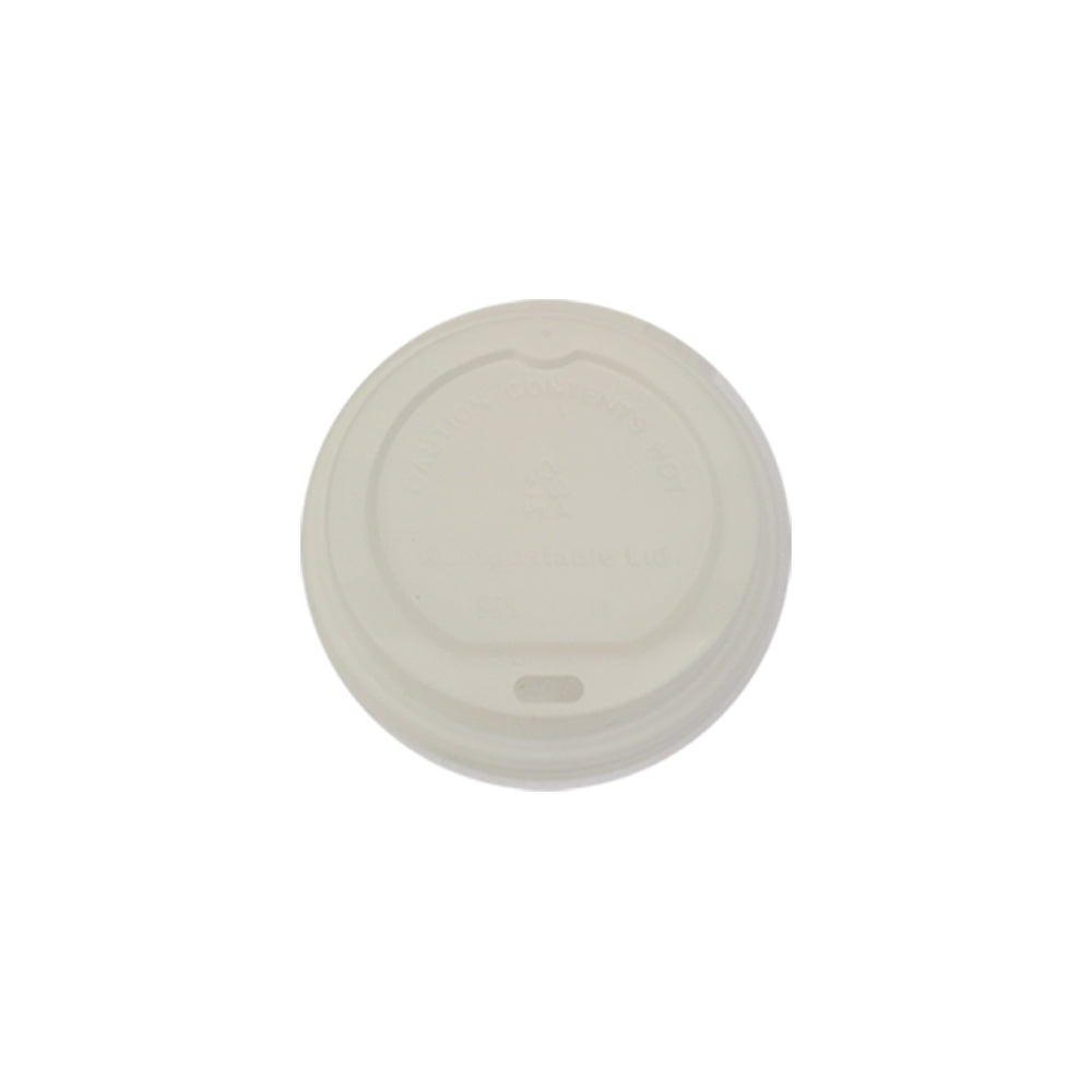 73mm PLA Lid - White (6oz) - Nature Pac