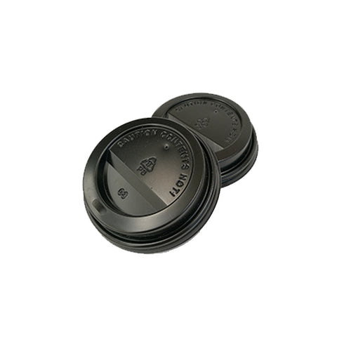 73mm PS Lid - Black (6oz) - Nature Pac