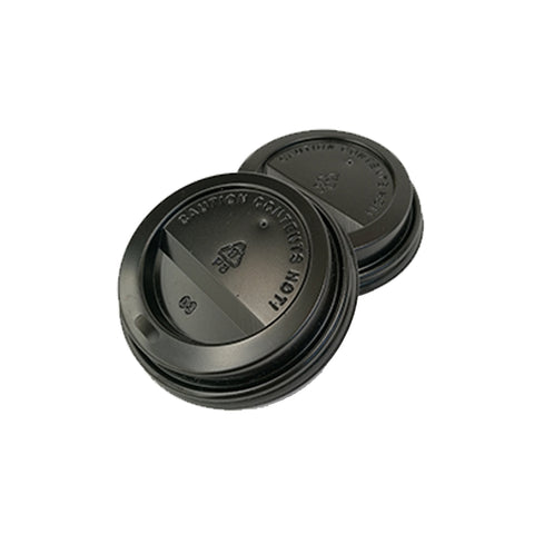 80mm PS Lid - Black (6ozC/8oz/12ozC) - Nature Pac