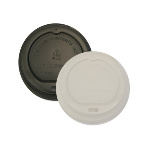 80mm PLA Lid - Black & White (6ozC/8oz/12ozC) - Nature Pac