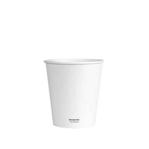 8ozB PLA Cups (90mm) - White - Nature Pac
