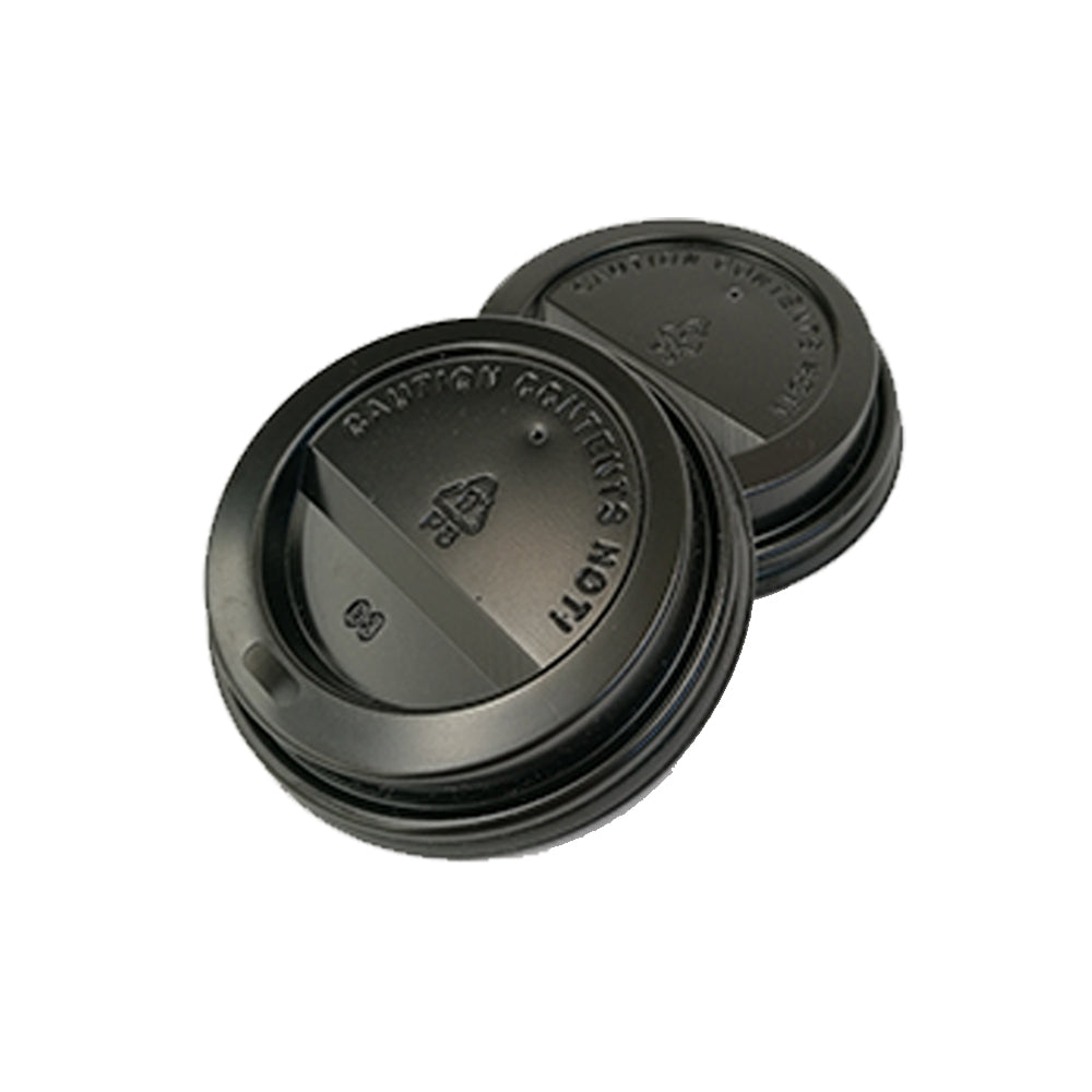 90mm PS Lid - Black (8ozB/12oz/16oz) - Nature Pac
