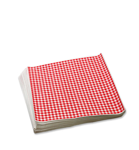 Grease Proof Paper - Red Checkered