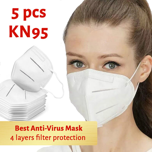 KN95 Anti-Bacterial Face Mask 5 pcs/pack