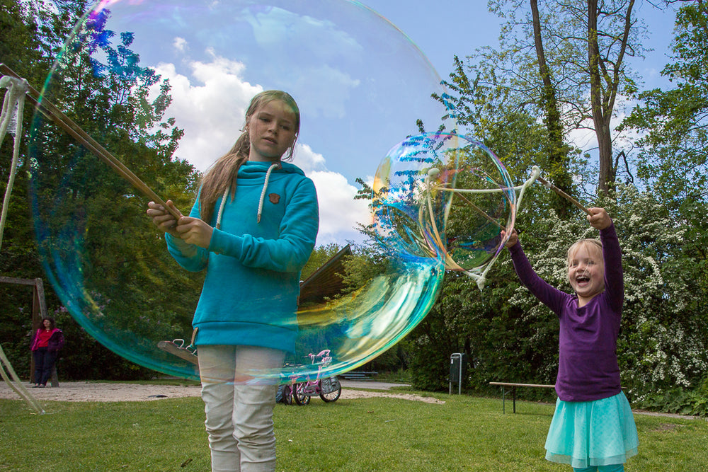 BubbleLab Party Fun edition - 3 sets stokken en bellenpoeder voor 15 liter sop