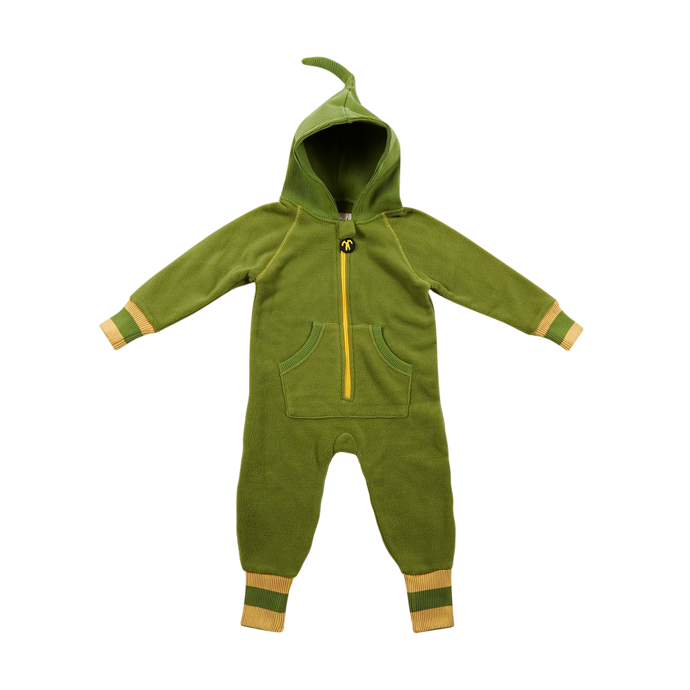 Ducksday Fleece Suit Groen/Geel