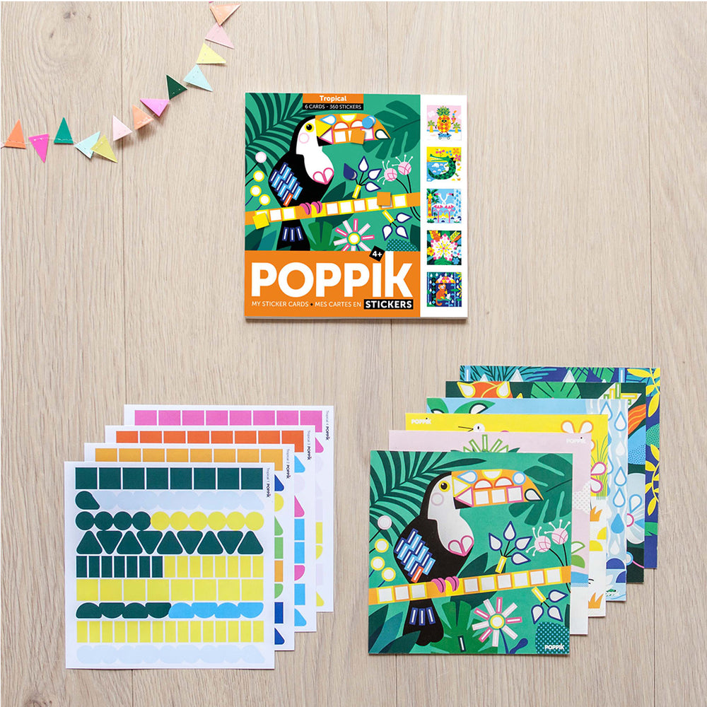 Poppik sticker kaarten Tropical