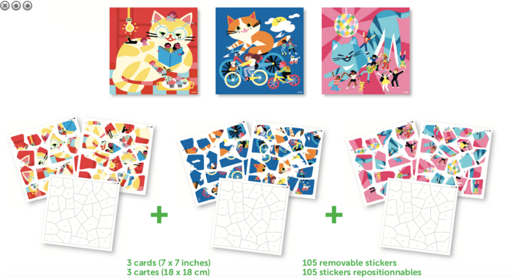 Poppik sticker puzzels Cats
