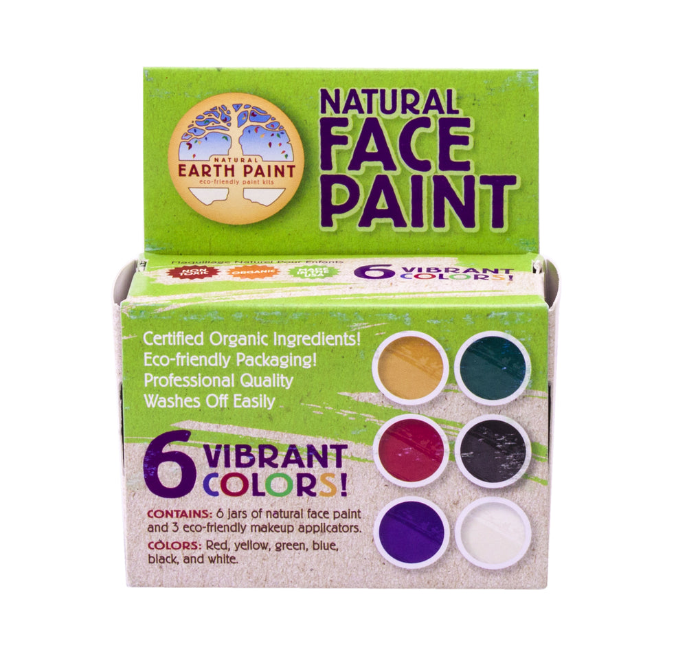 Natural Face Paint Kit - 6 kleuren