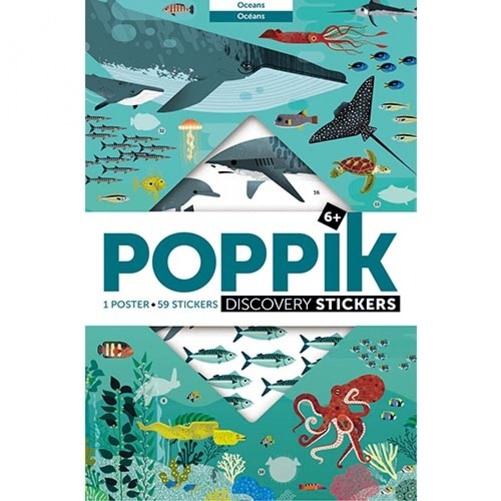 Poppik stickerposter Oceaan