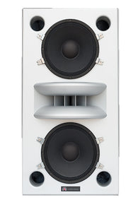 Augspurger white Duo-12 Single Speaker front view.
