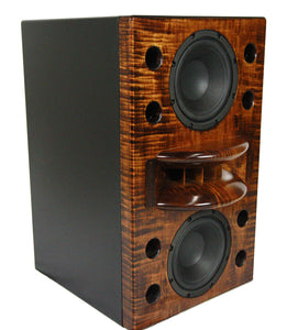 close up of the duo-8 wooden effect single speaker.