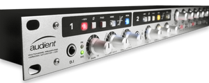 Audient ASP800 Eight-channel Microphone Preamplifier in white, close-up view.