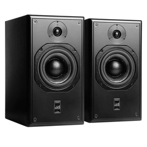 black atc scm20asl pro studio monitor front angled view