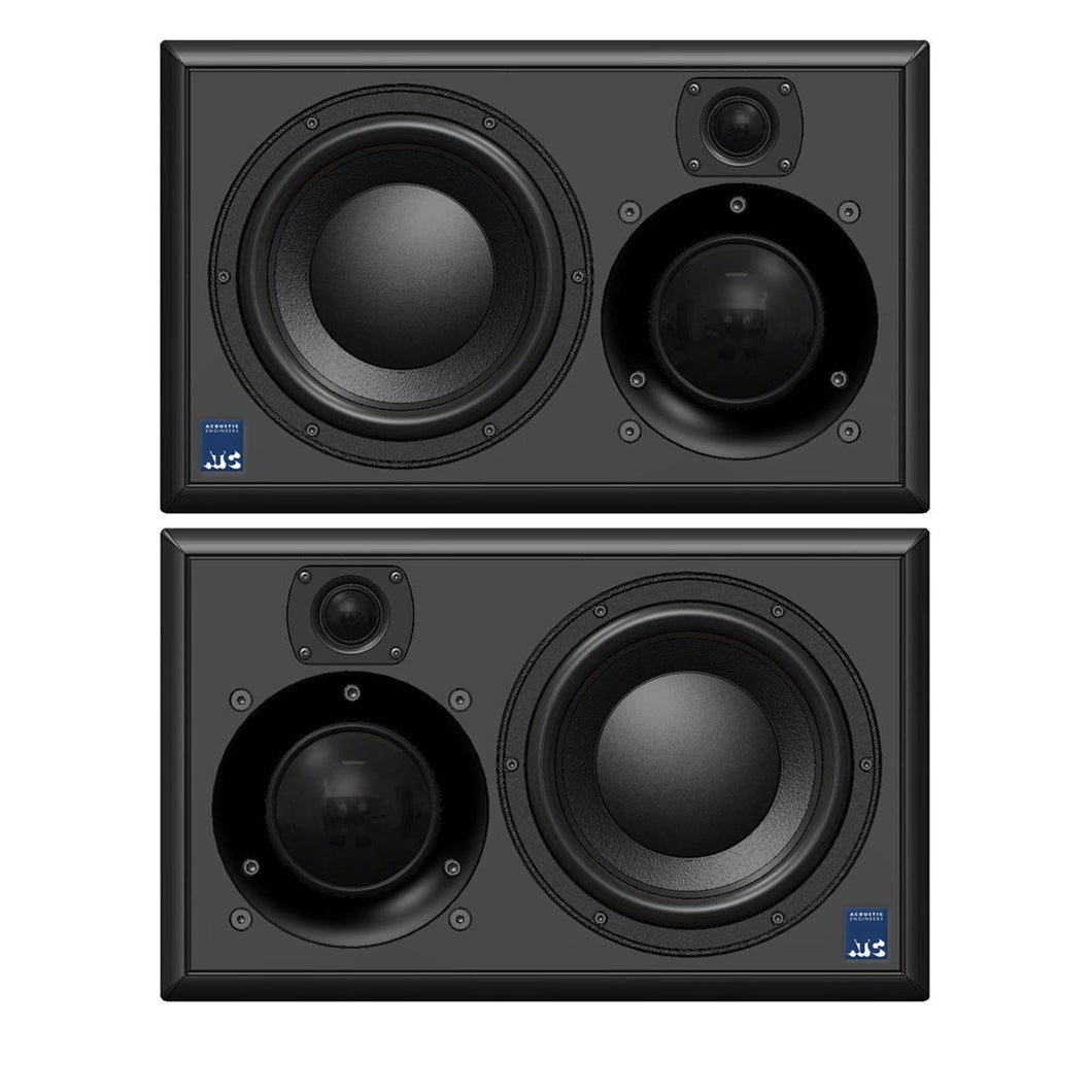 ATC SCM25A Pro Black Studio Monitor Front View