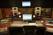 Load image into Gallery viewer, White Augspurger Duo-8 Speaker System full set up in music studio.