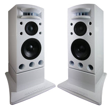 Load image into Gallery viewer, White Augspurger Treo 812 Pair Speaker system.