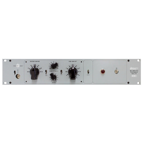 Chandler REDD.47 Mic Preamp in gray front view.
